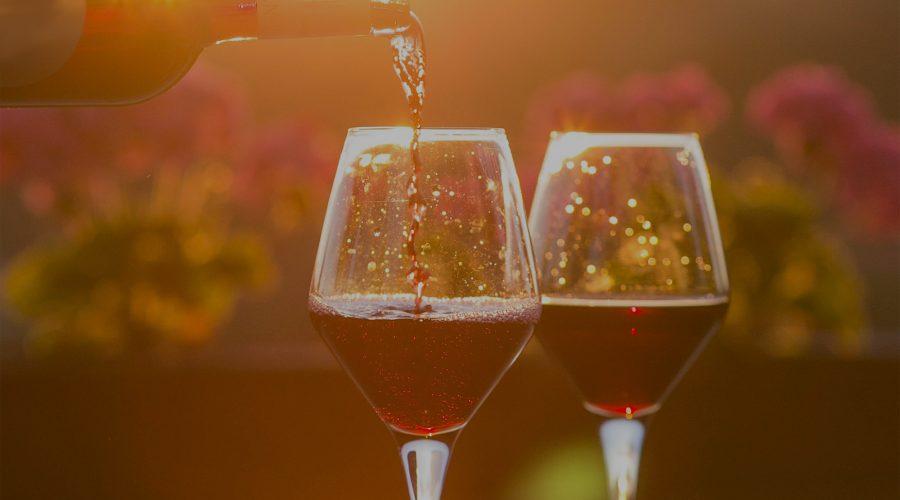 Magnum bottle - wine glass