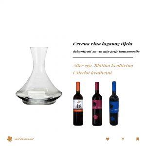 crvena vina laganog tijela